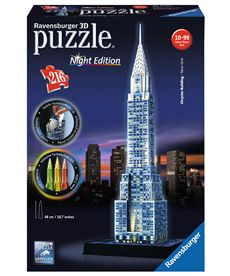 Puzzle 3d chrisler building-nigth edition - 26912595