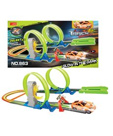 Pista doble looping fosforescente - 97200863