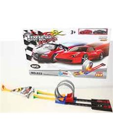 Pista doble looping con lanzador - 97214608(1)
