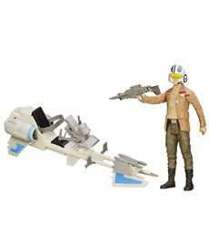 Star wars vehiculo con figura speeder bike dameron - 25503918