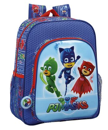 Mochila junior adapt. carro pjmasks - 79111640