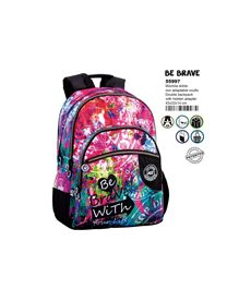 Mochila doble a.o. cg be brave - 75655997