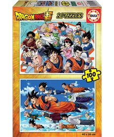 Puzzle 2x100 dragon ball fsc(r) - 04018214