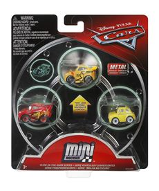 Pack 3 cars mini racers mcqueen luigi cruz storm - 24561629