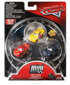 Pack 3 cars mini racers mcqueen cruz y jackson - 24561630
