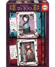 Puzzle 2x100 little red riding hood + rapunzel go - 04017822