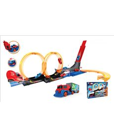 Pista looping camion con 2 coches - 87805274