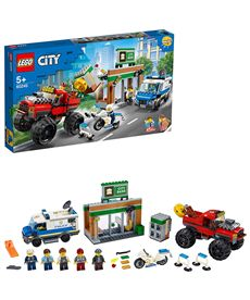 Policía: atraco del monster truck lego city