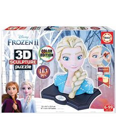 Color sculpture puzzle 3d frozen - 04018374