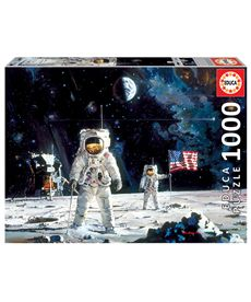 Puzzle 1000 first men on the moon, robert mccall - 04018459