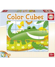 Color cubes 12 animales salvajes