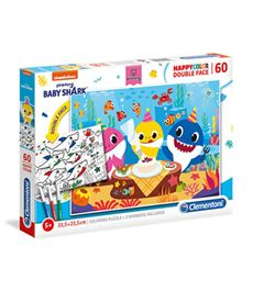 Puzzle 60 baby shark coloring - 06626095