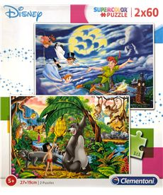 Puzzle 2x60 peter pan + jungle book - 06621613