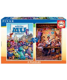 Puzzle 2x100 coco+monsters university - 04018635