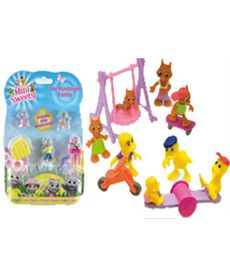 Mini sweety -blister familia 4 fig + 2 acces. - 23450210