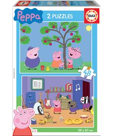 Puzzle 2 x 48 peppa pig - 04015920